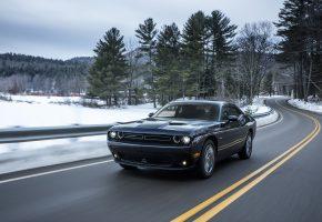 Challenger, Автомобиль, Дороги, Металлик, Dodge, скорость