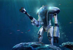 игра, глубина, Subnautica, океан, Креветка, рыбы