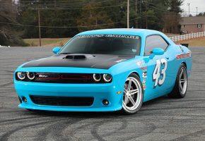 Challenger, SC3C, Dodge, Додж, голубой, авто, перед