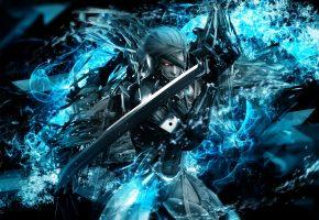 Воин, меч, metal gear rising, game, игра