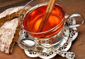 пряник, чай, палочка, корицы, затейливая, ложечка