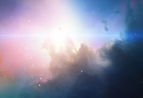 космос, туманность, звезды, свечение