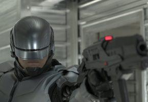 пистолет, робот, робокоп, мерфи, полицейский, фильм