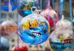 новый год, новогодние, игрушки, шары, макро