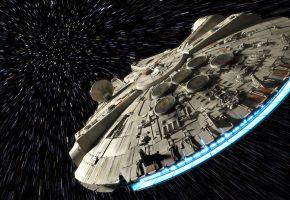 Космос, вселенная, космический корабль, Тысячелетний сокол, звездные войны