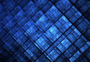 узор, квадраты, синий, цвет, фигура, фон