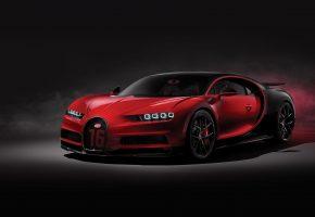 Bugatti, суперкар, авто, машина, Бугатти, перед, фары, красный