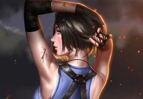 девушка, Resident Evil 3, 2020, игра, Обитель Зла