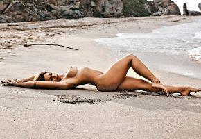 пляж, песок, нудизм