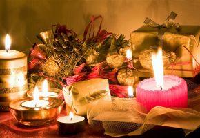 горели, восковые, свечи, и, был, подарок, для, тебя