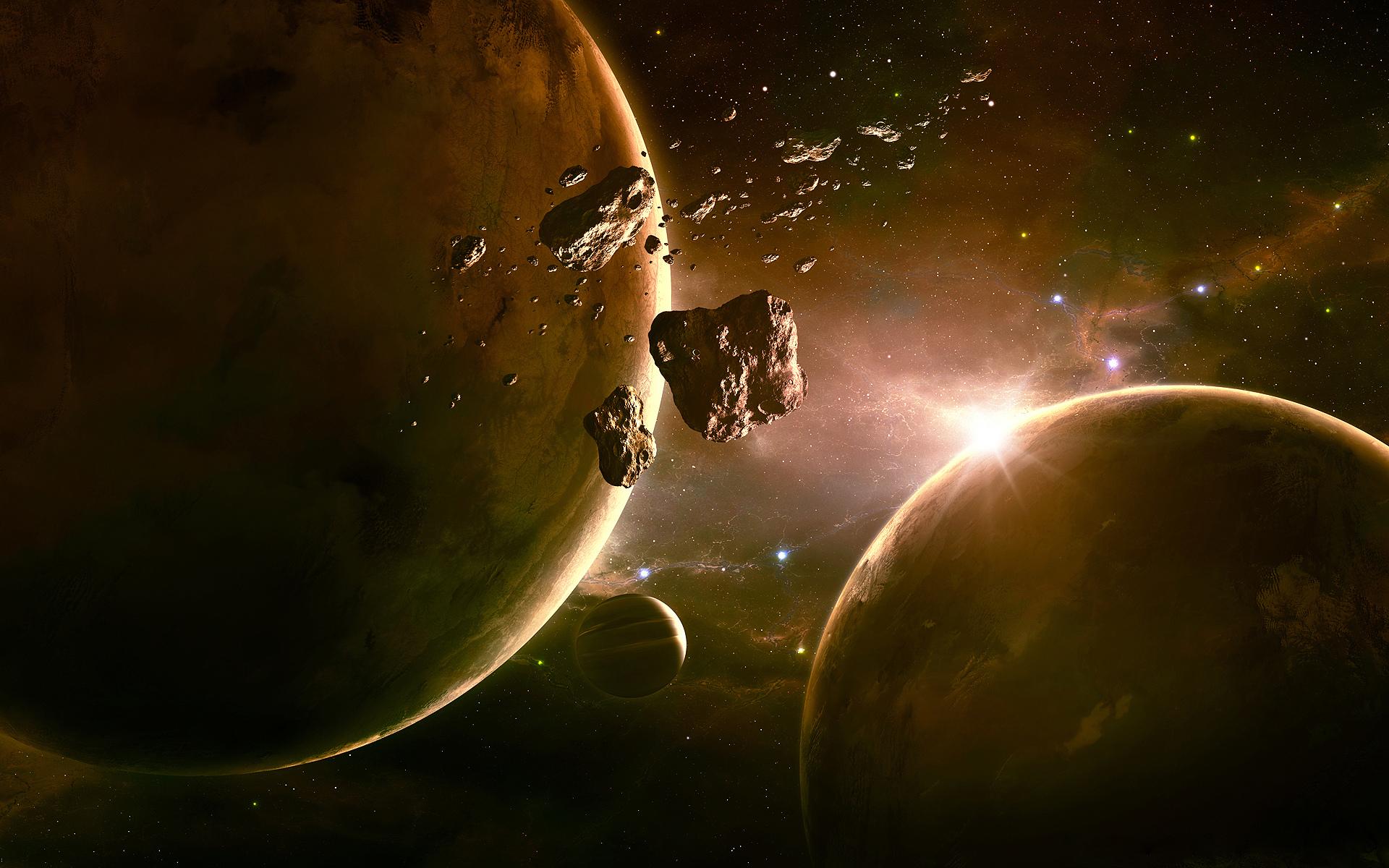 Обои Бездна, пустота, планеты, туманность. Космос foto 9